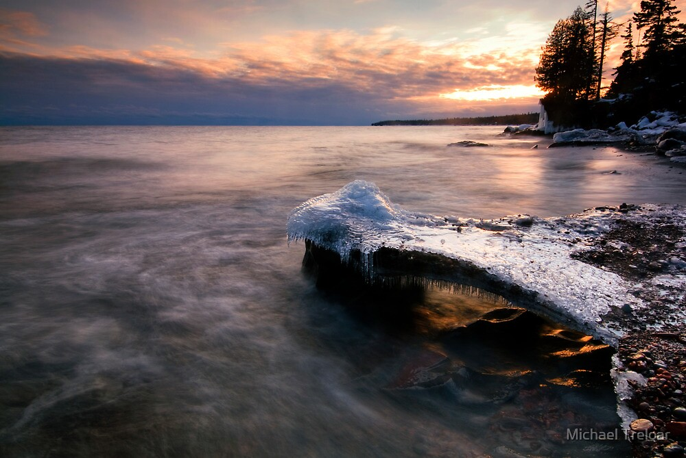 Under Glow, Lake Superior by Michael Treloar