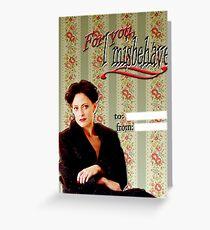 Irene Adler Valentine's Day Card - Misbehave Greeting Card