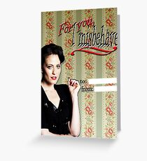 Irene Adler Valentine's Day Card - Misbehave II Greeting Card