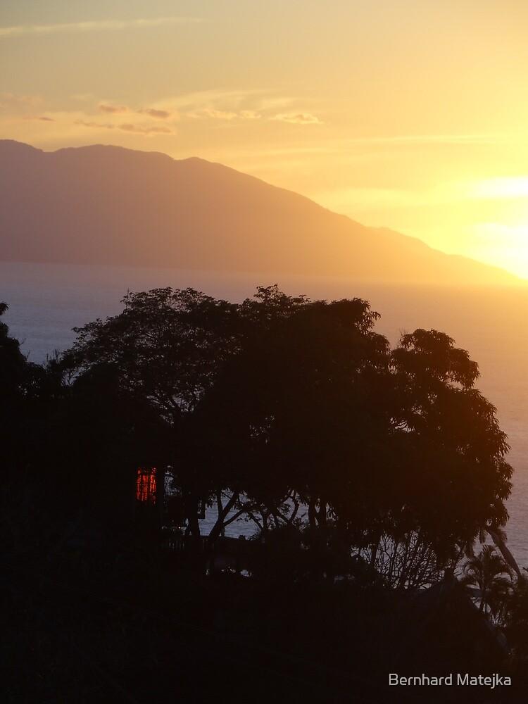 sunset in yellow I - puesta del sol by Bernhard Matejka