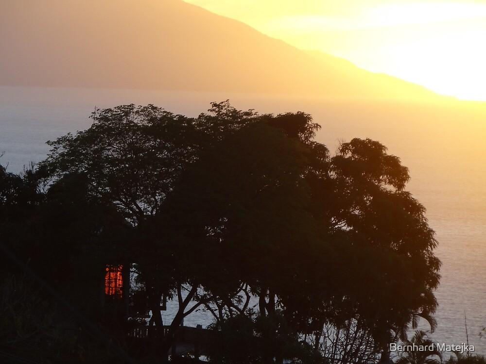sunset in yellow II - puesta del sol by Bernhard Matejka