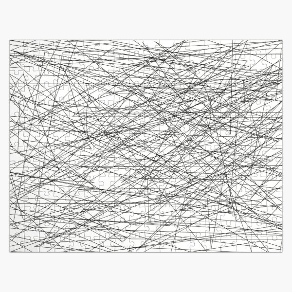 The Lines - Black and White Simple Fashion Challenge Jigsaw Puzzle