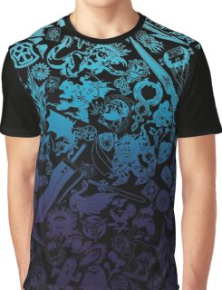 Moogle-verse (blue) Graphic T-Shirt