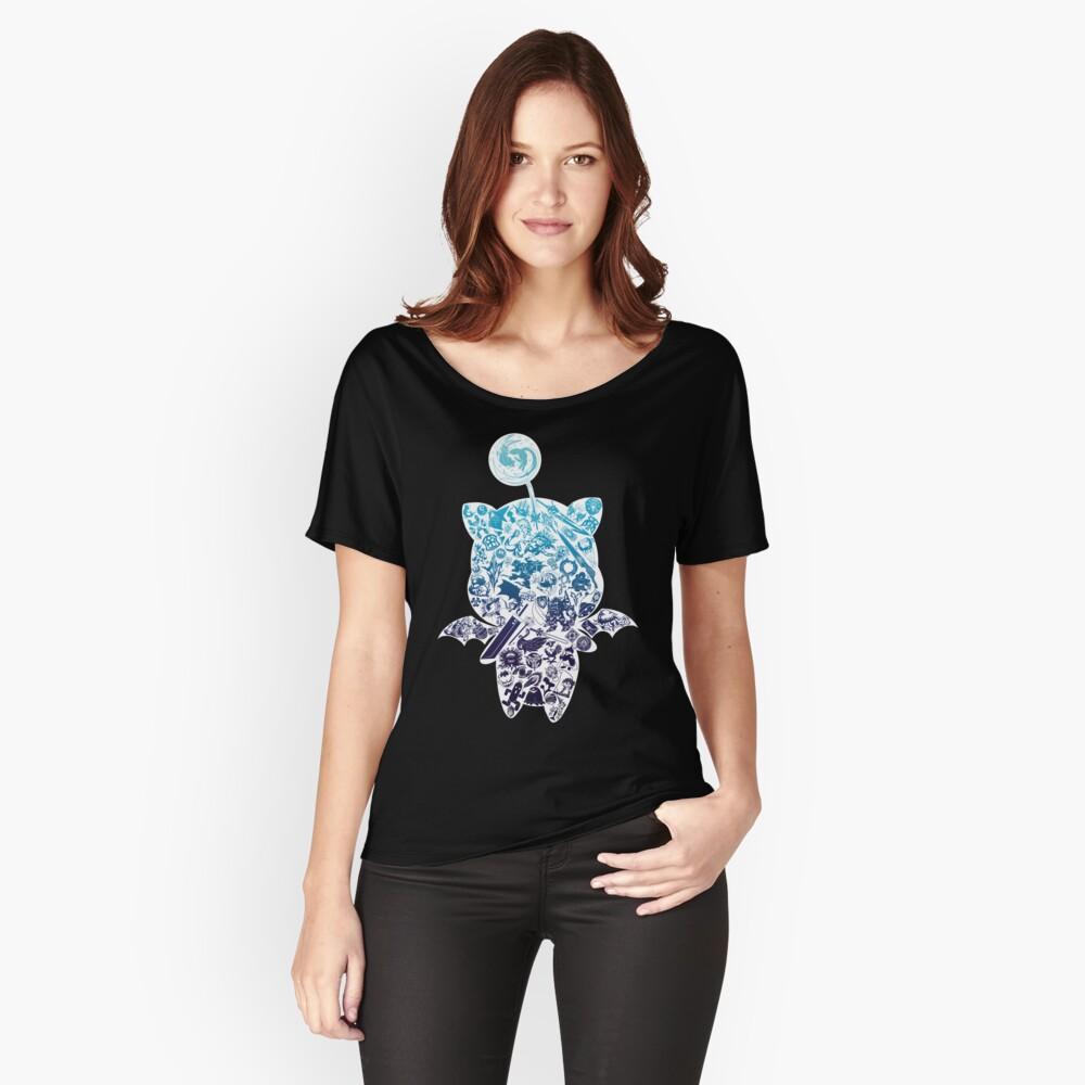 Moogle-verse (blue) Loose Fit T-Shirt