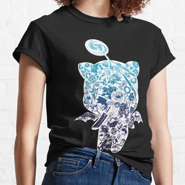 lleno de muchos símbolos e íconos diferentes de la serie Final Fantasy. ¿Reconoces todo? :)  Quiero ofrecer la mayor cantidad de color posible para las camisas. Camiseta clásica
