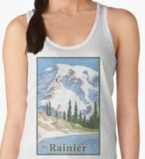 Vintage Mount Rainier Travel Poster Women's Tank Top