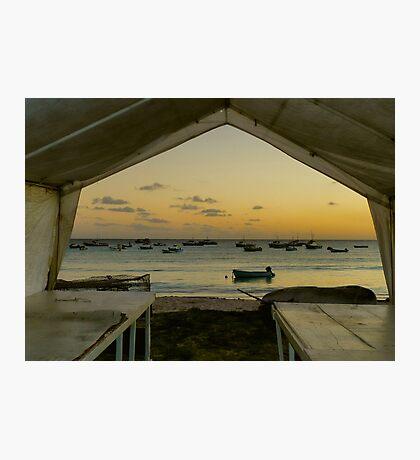 Barbados Fishing Boats Photographic Print