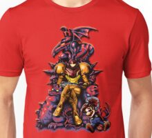 Metroid - The Huntress Throne (with Mario) Unisex T-Shirt