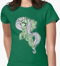 Fluttershy stencil art Womens Fitted T-Shirt
