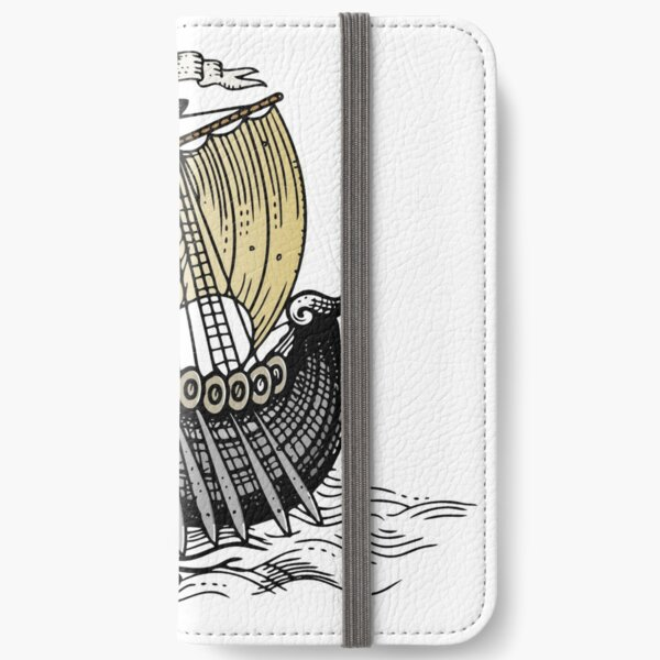 Vintage Sailing Ship iPhone Wallet