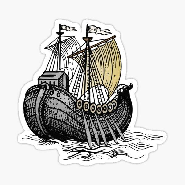 Vintage Sailing Ship Sticker