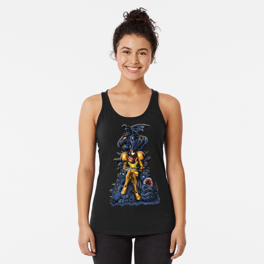 Metroid - The Huntress 'Throne -Gaming Camiseta con espalda nadadora