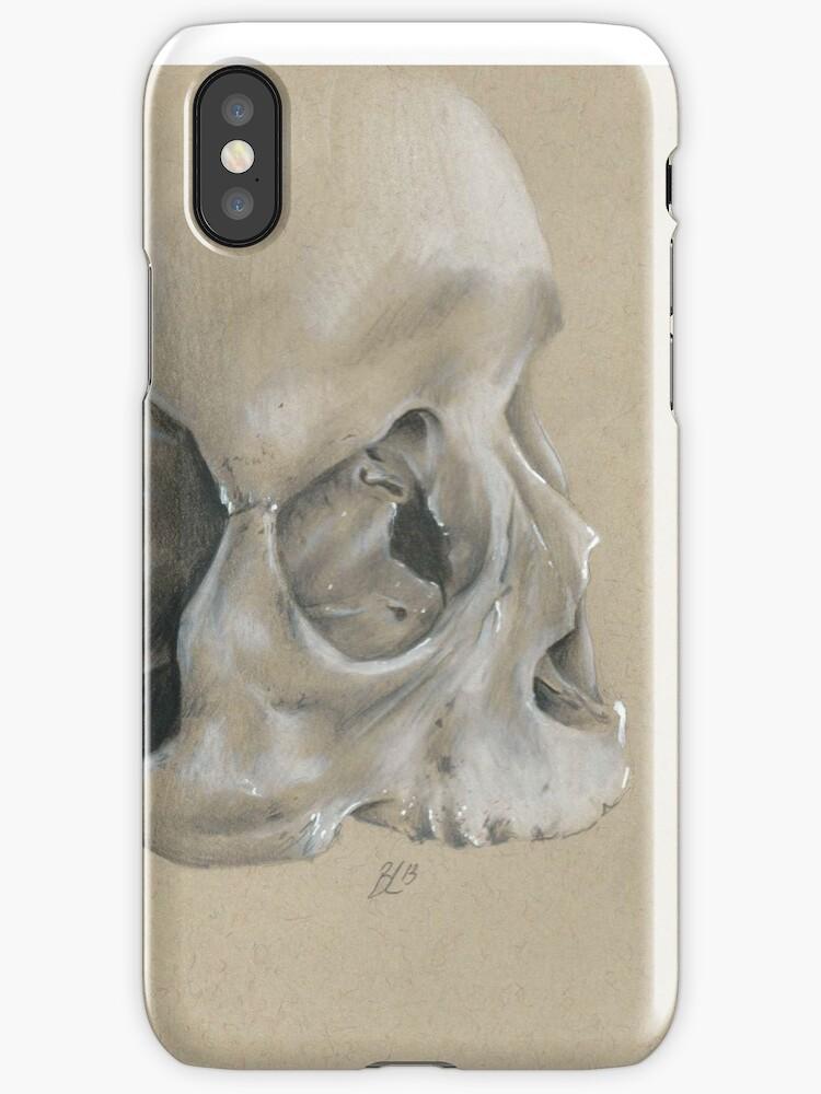 skull phone case by Odditieart