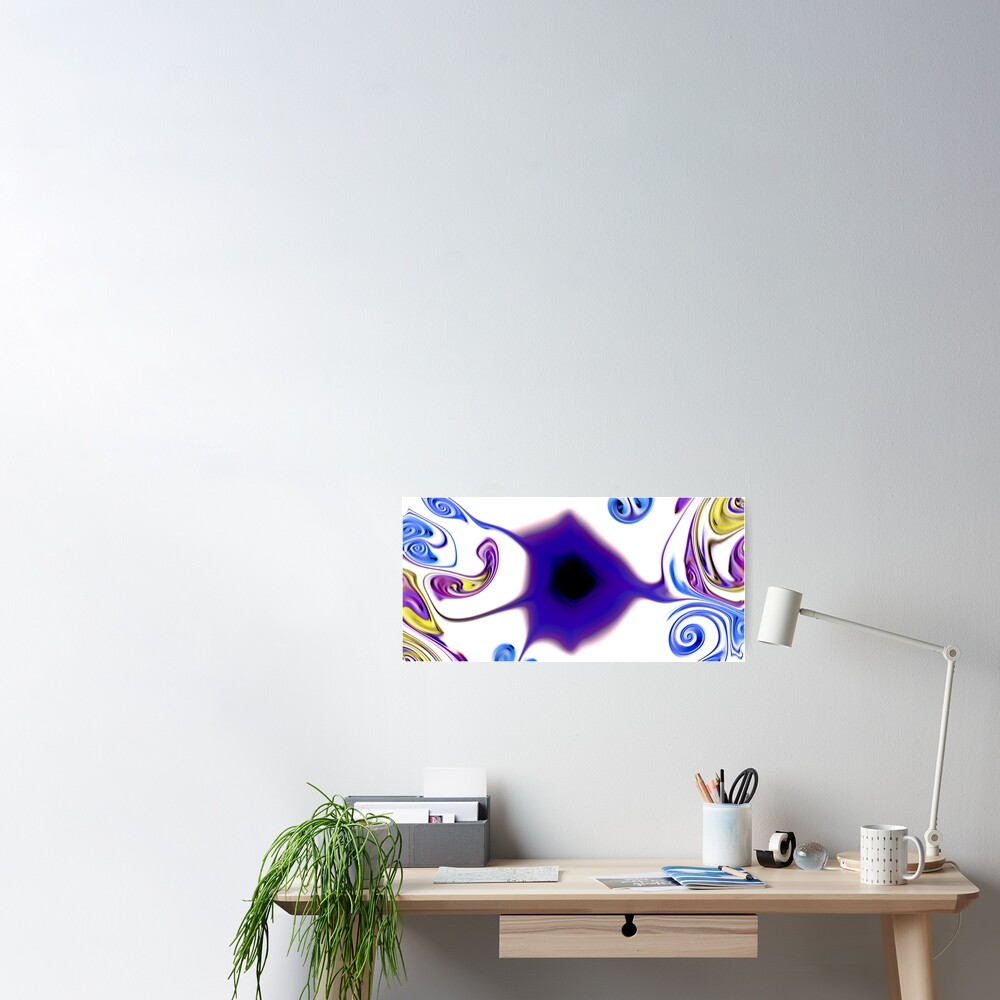 Multicolored unique everlasting pattern Poster