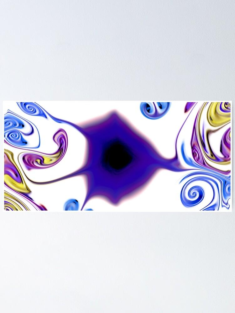 Alternate view of Multicolored unique everlasting pattern Poster
