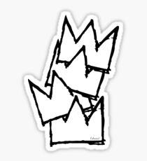 Stacked Crowns White  Sticker