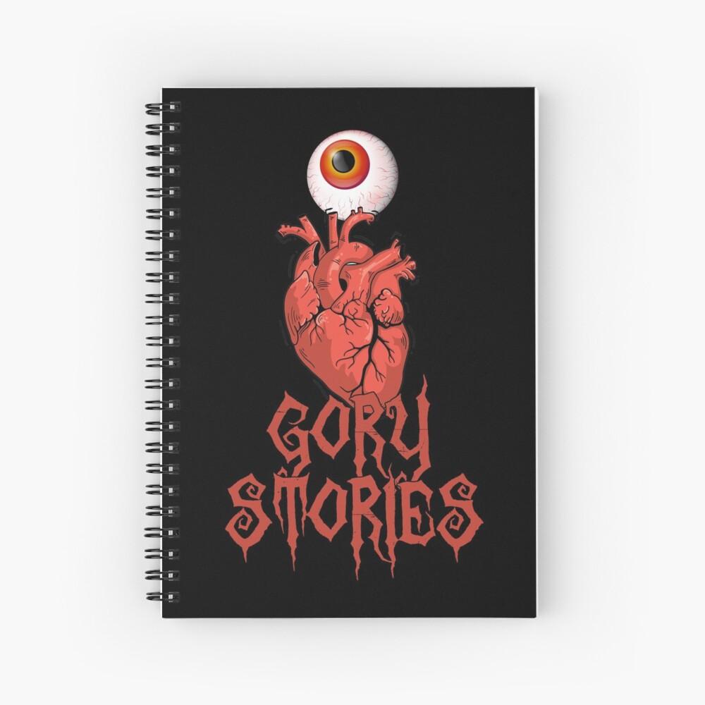 I LOVE GORY STORIES (alternative design) Spiral Notebook