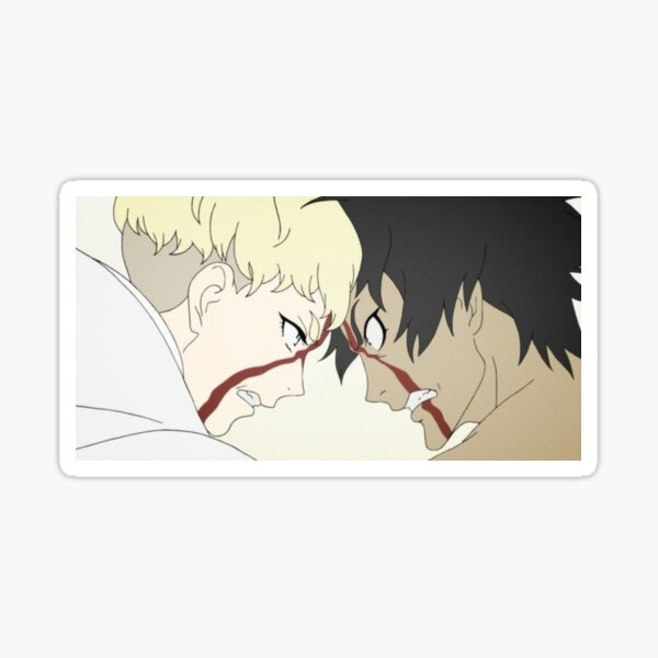 devilman crybaby ryo and akira screencap Glossy Sticker
