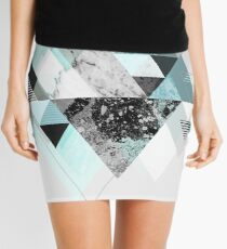 Graphic 110 (Turquoise Version) Mini Skirt