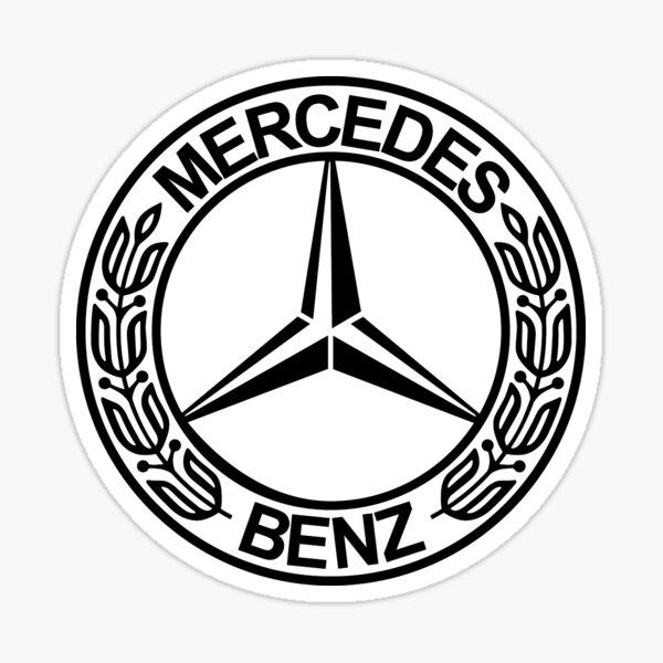 MEJOR CALIDAD - Mercedes-Benz Logo Black Pegatina