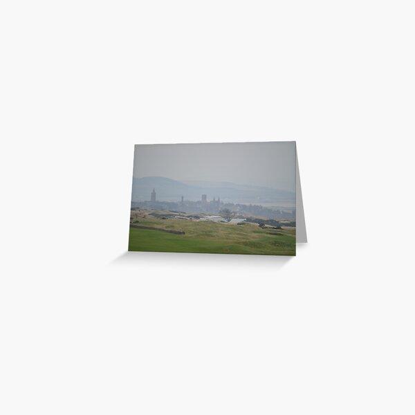 Misty St Andrews Skyline Greeting Card