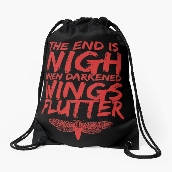 The End is Nigh When Darkened Wings Flutter Drawstring Bag