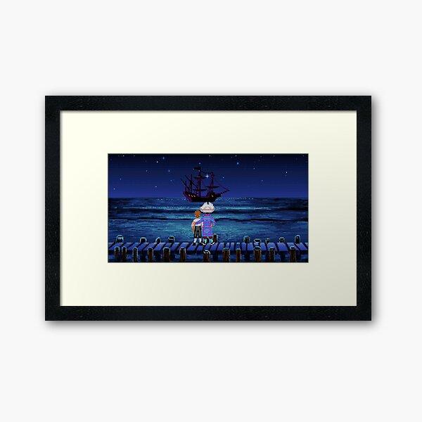 Guybrush & Stan (Monkey Island) Framed Art Print