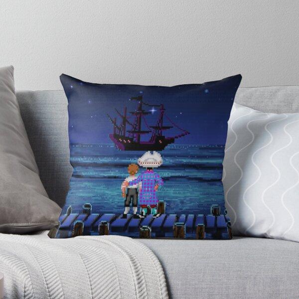 Guybrush & Stan (Monkey Island) Throw Pillow
