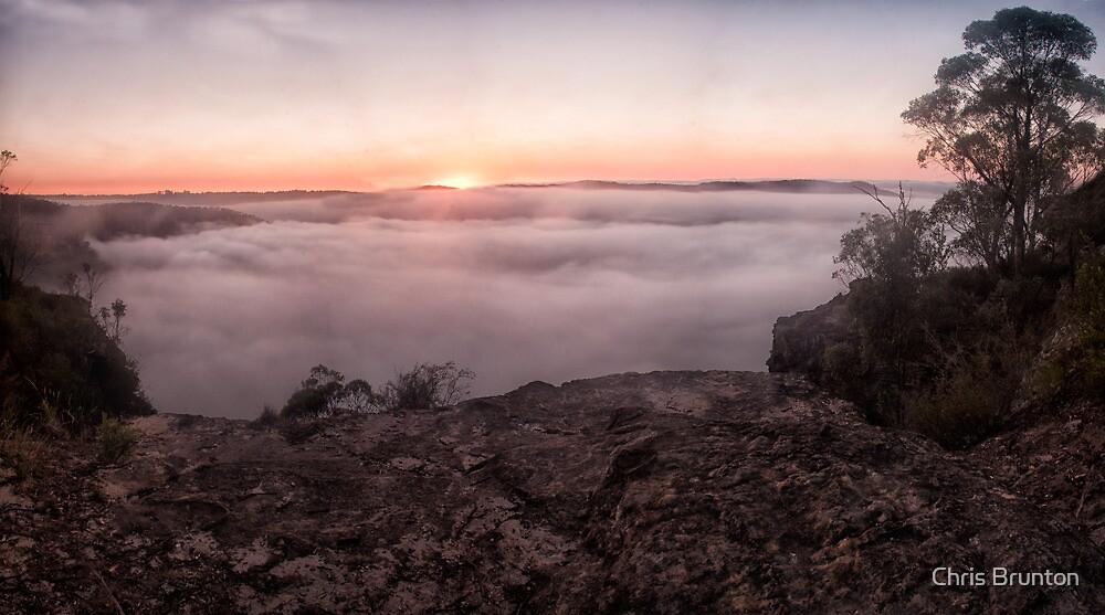 Sunrise and fog by Chris Brunton