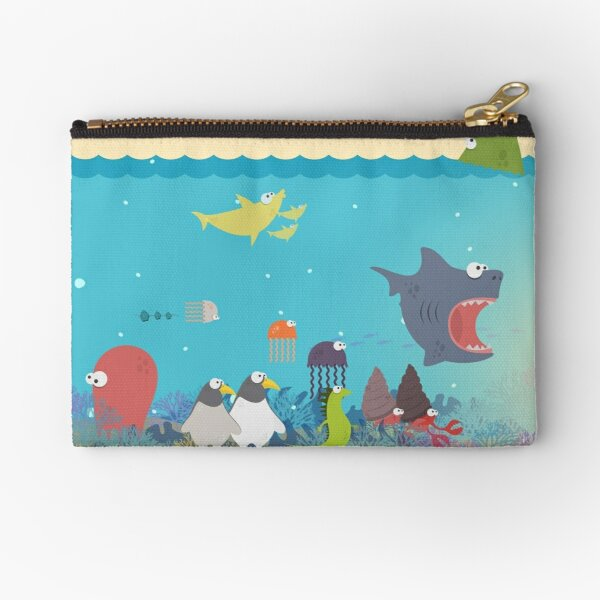 What's going on at the sea? Kids collection Zipper Pouch