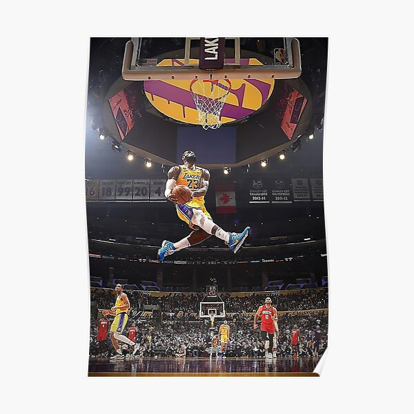 James Lebron Dunk Póster