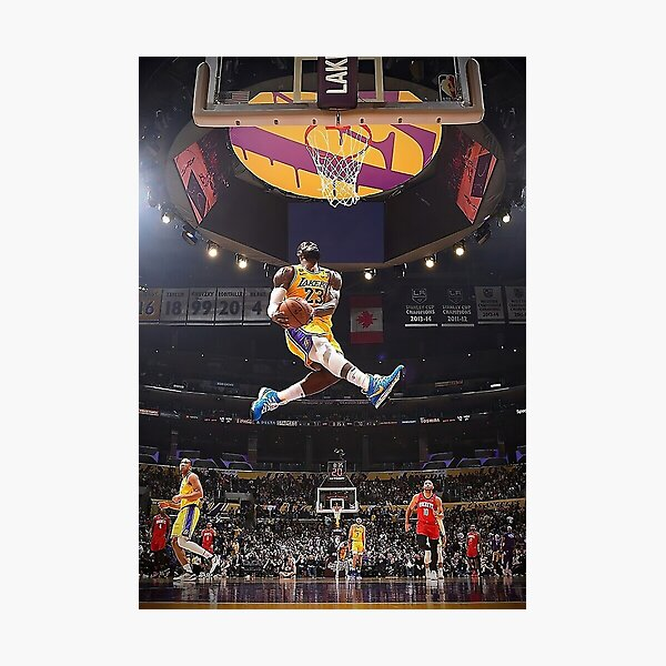 James Lebron Dunk Photographic Print