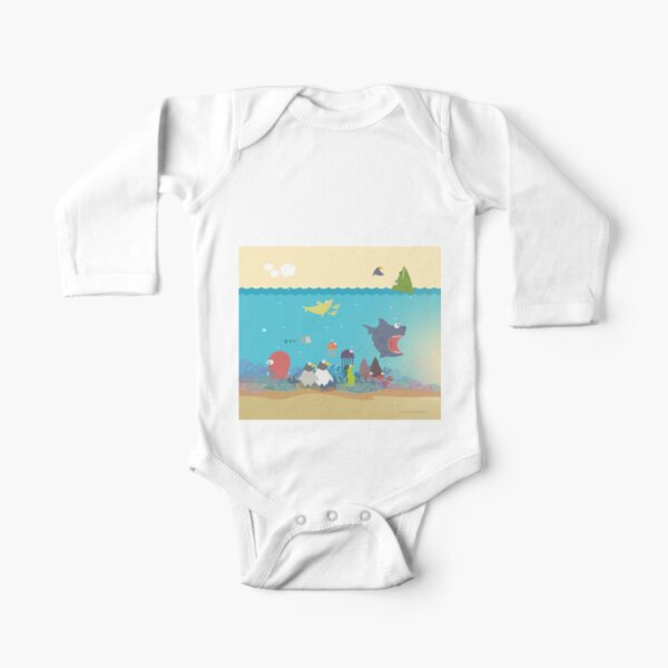 What's going on at the sea? Kids collection Long Sleeve Baby One-Piece