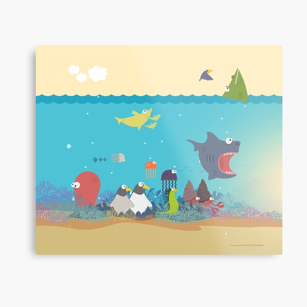 What's going on at the sea? Kids collection Metal Print