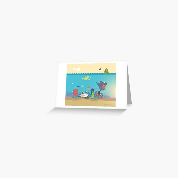 What's going on at the sea? Kids collection Greeting Card