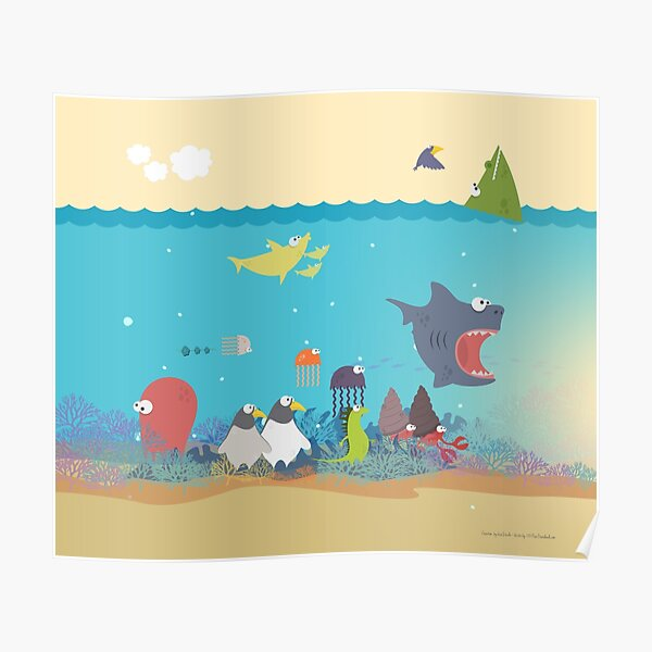 What's going on at the sea? Kids collection Poster