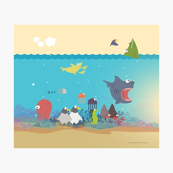 What's going on at the sea? Kids collection Photographic Print