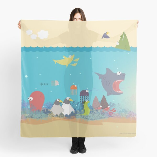 What's going on at the sea? Kids collection Scarf