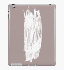 Simple Minimalistic White Brushtrokes on Beige iPad Case/Skin