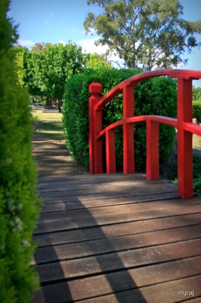 The Red Handrail by myraj