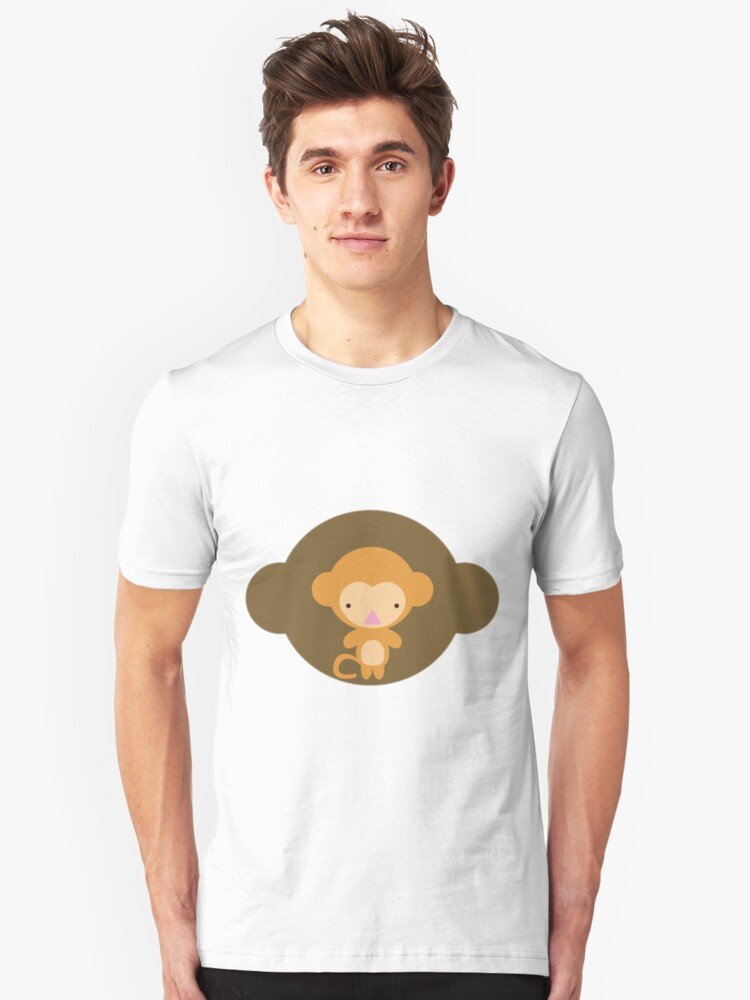 The stuffed toy of the monkey Unisex T-Shirt Front