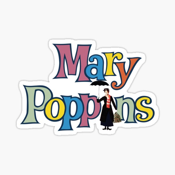 Mary Poppins Vintage Sticker