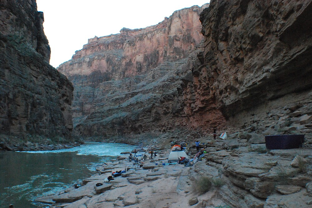 Camping in the Grand Canyon almost sand free by dinahmite