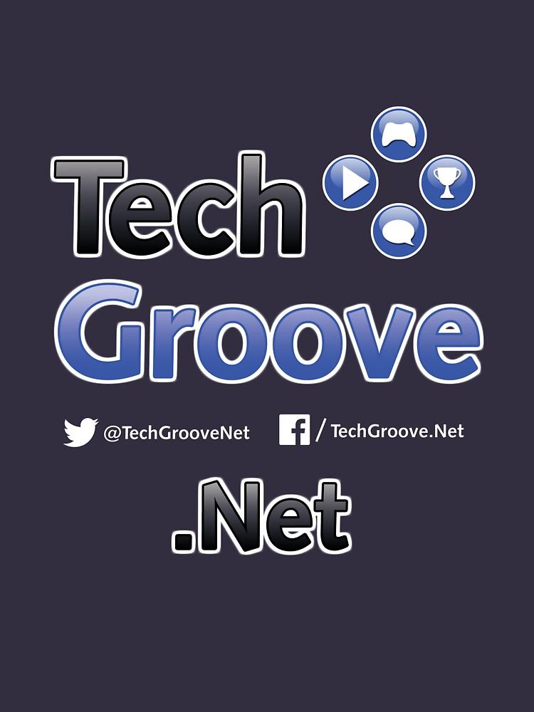 TechGroove Logo Split — Promo Shirt Dark by bwhite94