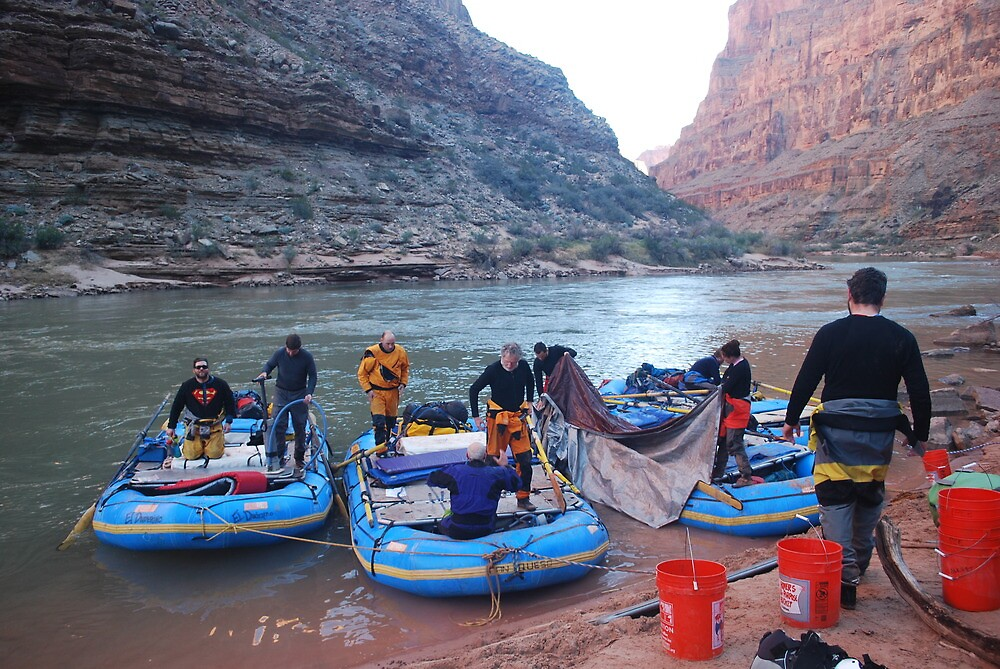 Rigging in the morning, grand canyon by dinahmite