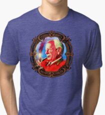 J. R. R. Tolkien Portrait with Orodruin Pipe Tri-blend T-Shirt