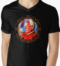 J. R. R. Tolkien Portrait with Orodruin Pipe Mens V-Neck T-Shirt