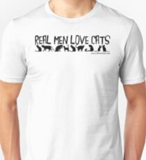 Real Men Love Cats Black Text Unisex T-Shirt