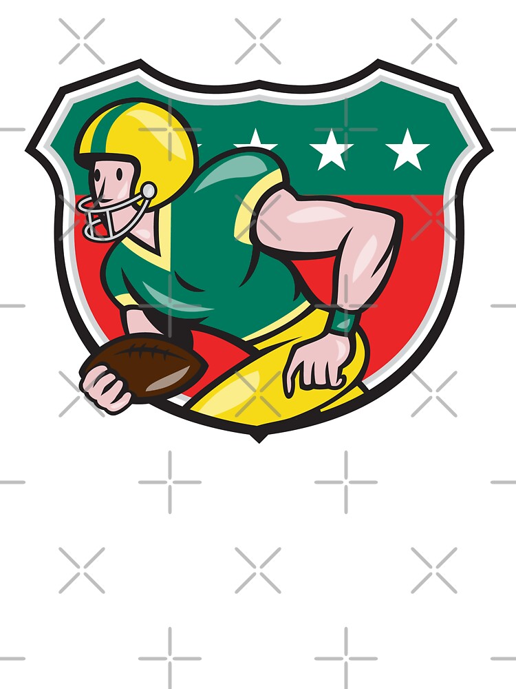 American Football Wide Receiver Running Ball Shield by patrimonio