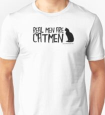 Real Mean Are Catmen Black Text Unisex T-Shirt